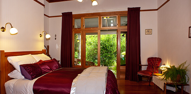 Burgundy Bed